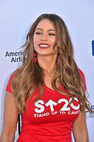 SANTA MONICA, CA. September 07, 2018: Sofia Vergara at the 2018 Stand Up To Cancer fundraiser at Barker Hangar, Santa Monica Airport.
