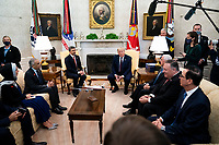President Donald Trump meets with  Abdullah bin Zayed bin Sultan Al Nahyan, Minister of Foreign Affairs and International Cooperation of the United Arab Emirates in the Oval Office of the White House in Washington, DC,  Tuesday, Sept. 15,  2020.  <br /> Credit: Doug Mills / Pool via CNPPresident Donald Trump meets with  Abdullah bin Zayed bin Sultan Al Nahyan, Minister of Foreign Affairs and International Cooperation of the United Arab Emirates in the Oval Office of the White House in Washington, DC,  Tuesday, Sept. 15,  2020.  <br /> Credit: Doug Mills / Pool via CNP /MediaPunch