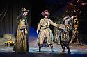 London, UK. 01.04.2014. The Kolobov Novaya Opera presents PRINCE IGOR at the London Coliseum. Picture shows: Act II - Polovtsian Camp, with Konchak (Vladimir Kudashev - left). Photograph © Jane Hobson.