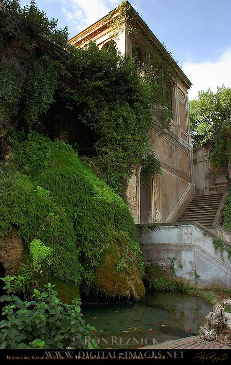 Fontana del Teatro Sweating Fountain Aviary Horti Farnesiani Palatine Hill Rome
