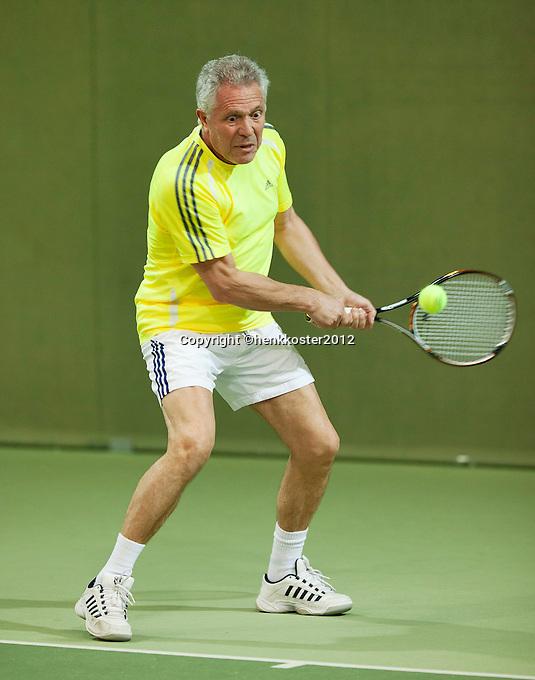 10-03-12, Netherlands, Hilversum, Tennis, NOVK, Ned. Overdekte Veteranen Kampioenschappen,