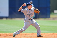 22 May 2010:  FIU's Junior Arrojo (13) throws to first in the fourth inning as the Florida Atlantic University Owls defeated the FIU Golden Panthers, 14-10, at FAU Stadium in Boca Raton, Florida.