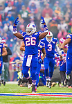 "14 December 2014: Buffalo Bills running back Anthony ""Boobie"" Dixon is introduced prior to facing the Green Bay Packers at Ralph Wilson Stadium in Orchard Park, NY. The Bills defeated the Packers 21-13, snapping the Packers' 5-game winning streak and keeping the Bills' 2014 playoff hopes alive. Mandatory Credit: Ed Wolfstein Photo *** RAW (NEF) Image File Available ***"