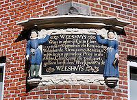 Gevelsteen van een voormalig Weeshuis in Franeker