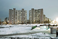 Ukraine, Kiev, East Europe, Prefabricated concrete slabs, Troeshina, Satellite city