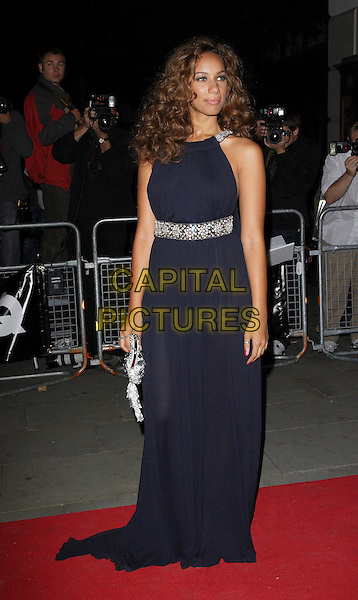 LEONA LEWIS.The 10th Anniversary GQ Men Of The Year Awards, Royal Opera House, Covent Garden, London, England. .September 4th 2007.full length black dress jewel encrusted waist belt clutch purse .CAP/ROS.©Steve Ross/Capital Pictures