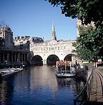 River Avon and Pulteney Bridge, Bath, England