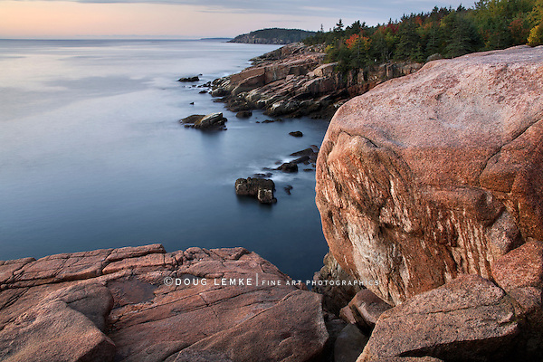 The Seacoast In Morning Light At Acadia National Park, Maine