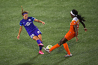 Orlando, FL - Thursday June 23, 2016: Samantha Witteman, Chioma Ubogagu during a regular season National Women's Soccer League (NWSL) match between the Orlando Pride and the Houston Dash at Camping World Stadium.