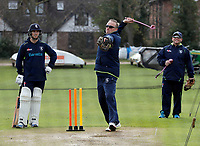 Allan Donald takes a training session during the friendly game between Kent CCC and Surrey at the St Lawrence Ground, Canterbury, on Friday Apr 6, 2018