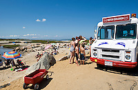 Ice cream truck at Paine's Creek Beach, Brewster, Cape Cod, MA, USA