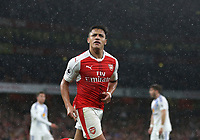 Arsenal's Alexis Sanchez celebrates scoring his sides second goal <br /> <br /> Photographer Rob Newell/CameraSport<br /> <br /> The Premier League - Arsenal v Sunderland - Tuesday May 16th 2017 - Emirates Stadium - London<br /> <br /> World Copyright &copy; 2017 CameraSport. All rights reserved. 43 Linden Ave. Countesthorpe. Leicester. England. LE8 5PG - Tel: +44 (0) 116 277 4147 - admin@camerasport.com - www.camerasport.com