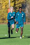 07.11.2018, Trainingsgelaende, Bremen, GER, RL Nord, Training Werder Bremen II<br /> <br /> im Bild<br /> Zinedine Kroeten, Emmanuel Iwe, <br /> <br /> Foto &copy; nordphoto / Ewert