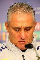 Trainer Tite (Brasilien Brasilia) bei der brasilianischen Pressekonferenz - 26.03.2018: Abschlusstraining der Deutschen Nationalmannschaft, Olympiastadion Berlin