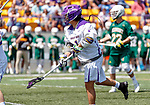 Tehoka Nanticoke (#1) watches his shot as UAlbany Lacrosse defeats Vermont 14-4  in the American East Conference Championship game at Casey Stadium, May 5.