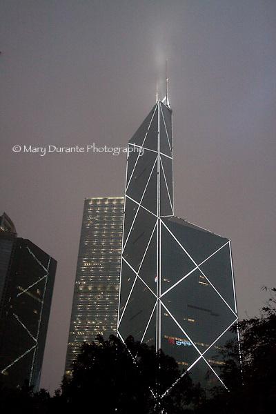 Bank of China tower at night