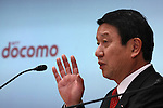 Apr. 28, 2010 - Tokyo, Japan - Ryuji Yamada, President and CEO of NTT DoCoMo Inc., delivers a speech during a press-conference in Tokyo, on April 28, 2010. The Japan's largest mobile-phone operator said its net profit for the January-March period jumped to Y75.4 billion from Y34.2 billion.