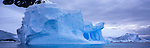 Iceberg off the coast of Cuverville Island, Antarctic Peninsula.