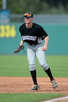 First baseman Pavin Smith (24) of Palm Beach Gardens in Jupiter, Florida playing for the Colorado Rockies scout team during the East Coast Pro Showcase on July 31, 2013 at NBT Bank Stadium in Syracuse, New York.  (Mike Janes/Four Seam Images)