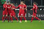15.03.2019, Borussia Park , Moenchengladbach, GER, 1. FBL,  Borussia Moenchengladbach vs. SC Freiburg,<br />  <br /> DFL regulations prohibit any use of photographs as image sequences and/or quasi-video<br /> <br /> im Bild / picture shows: <br /> die Freiburger freuen sich ueber das 1:0<br /> <br /> Foto © nordphoto / Meuter