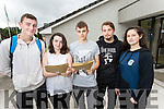 Students from Coláiste Gleann Lí, Tralee, pictured with their Leaving Certificate results on Wednesday morning, were l-r: Ger Keohane, Holly Tuohy, Kamil Micka, Jan Drawc, Saoirse Hussey all from Tralee.