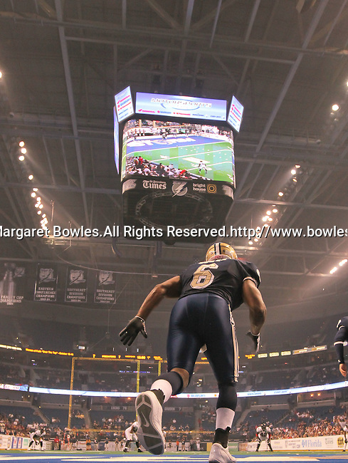 Aug 14, 2010: Kickoff. The Storm defeated the Predators 63-62 to win the division title at the St. Petersburg Times Forum in Tampa, Florida. (Mandatory Credit:  Margaret Bowles)