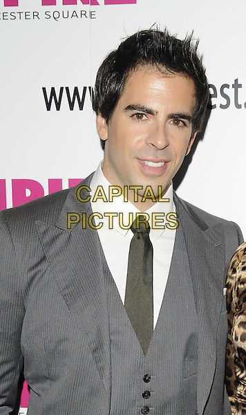 "ELI ROTH .""The Last Exorcism"" UK premiere, FrightFest film festival closing gala, Empire cinema, Leicester Square, London, England..August 30th, 2010.half length grey gray suit waistcoat  tie.CAP/CAN.©Can Nguyen/Capital Pictures."