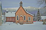 Barkerville Historic Site, St. Savior's Anglican church, winter