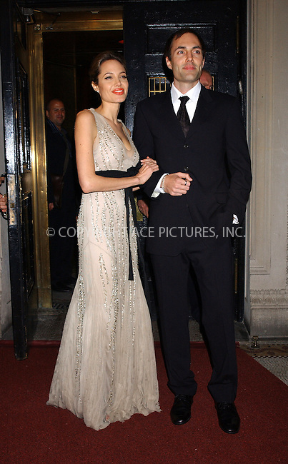 WWW.ACEPIXS.COM . . . . . ....NEW YORK, OCTOBER 24, 2005....Angelina Jolie and James Haven Voight at the Worldwide Orphans Foundation's First Benefit Gala held at the Capitale Venetian Ballroom.....Please byline: KRISTIN CALLAHAN - ACE PICTURES.. . . . . . ..Ace Pictures, Inc:  ..Craig Ashby (212) 243-8787..e-mail: picturedesk@acepixs.com..web: http://www.acepixs.com