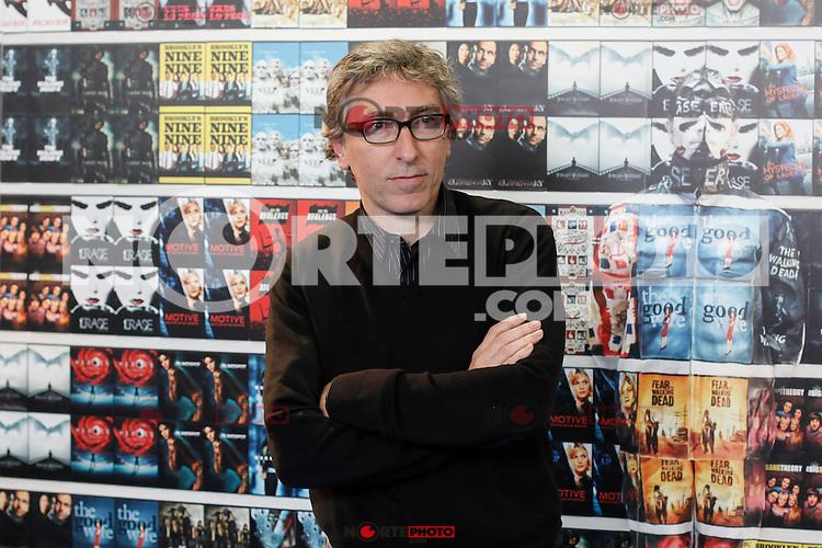 David Trueba poses during the presentation of the `¿Que fue de Jorge Sanz?´ TV show in Madrid, Spain. November 13, 2015. (ALTERPHOTOS/Victor Blanco)