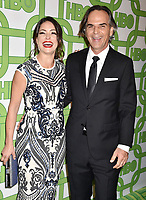 BEVERLY HILLS, CA - JANUARY 06: Emmanuelle Vaugier (L) and Vince Calandra attend HBO's Official Golden Globe Awards After Party at Circa 55 Restaurant at the Beverly Hilton Hotel on January 6, 2019 in Beverly Hills, California.<br /> CAP/ROT/TM<br /> ©TM/ROT/Capital Pictures