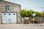 Fans wait for the race to pass during Stage 2 of the 2018 Tour de France running 182.5km from Mouilleron-Saint-Germain to La Roche-sur-Yon, France. 8th July 2018. <br /> Picture: ASO/Pauline Ballet | Cyclefile<br /> All photos usage must carry mandatory copyright credit (&copy; Cyclefile | ASO/Pauline Ballet)