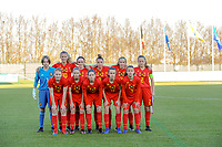 20191204 - TUBEKE , BELGIUM : Belgian XXX pictured during the international friendly female soccer game between the Belgian Flames U15 and Germany , Wednesday 4 th December 2019 at the Belgian Football Centre, Tubeke / Tubize , Belgium. PHOTO SPORTPIX.BE | STIJN AUDOOREN