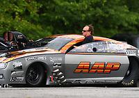 May 5, 2017; Commerce, GA, USA; NHRA pro mod driver Mike Janis during qualifying for the Southern Nationals at Atlanta Dragway. Mandatory Credit: Mark J. Rebilas-USA TODAY Sports
