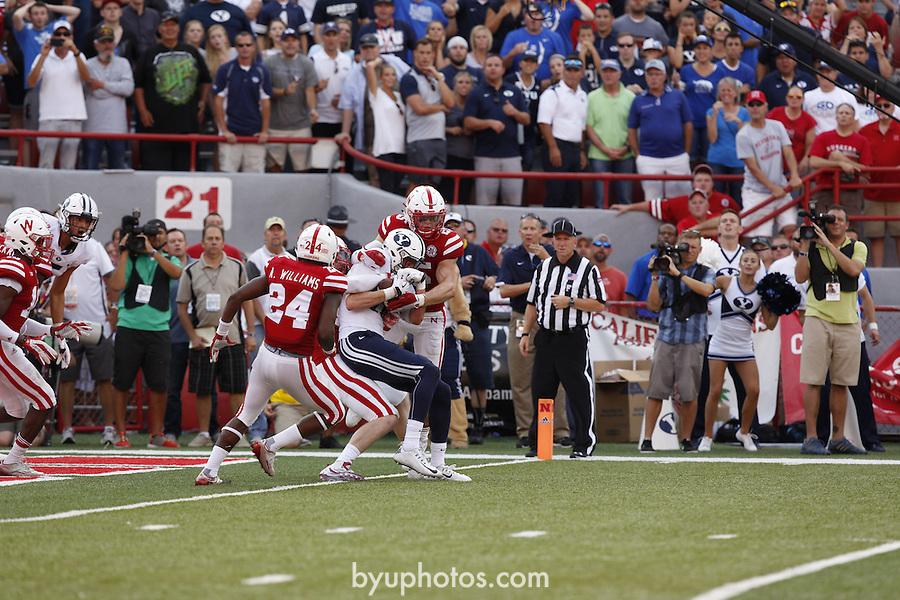 Nebraska vs. BYU.  Brigham Young University. September 5, 2015.  Photo by Craig Chandler / University Communications