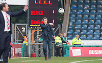 Wycombe Wanderers Manager Gareth Ainsworth throws the ball back into play during the Sky Bet League 2 match between Wycombe Wanderers and Stevenage at Adams Park, High Wycombe, England on 12 March 2016. Photo by Andy Rowland/PRiME Media Images.