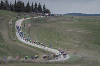 stretched out peloton<br /> <br /> 11th Strade Bianche 2017