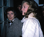 FAYE DUNAWAY and her Husband TERRY O'NEILL<br />leaving The Helen Hayes Theatre, New York City.<br />January 1982