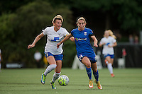 Seattle, Washington - Saturday, July 2nd, 2016: Seattle Reign FC forward Manon Melis (14) drives down the field during a regular season National Women's Soccer League (NWSL) match between the Seattle Reign FC and the Boston Breakers at Memorial Stadium. Seattle won 2-0.
