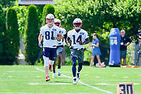 June 13, 2017: New England Patriots wide receiver Brandon Cooks (14) warms up at the New England Patriots organized team activity held on the practice field at Gillette Stadium, in Foxborough, Massachusetts. Eric Canha/CSM
