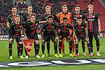 08.11.2018, BayArena, Leverkusen, Europaleque, Vorrunde, GER, UEFA EL, Bayer 04 Leverkusen (GER) vs. FC Zuerich (SUI),<br />  <br /> DFL regulations prohibit any use of photographs as image sequences and/or quasi-video<br /> <br /> im Bild / picture shows: <br /> die Leverkusener Mannschaft , Mannschaftsfoto, unten vl Dominik Kohr (Leverkusen #21), Julian Baumgartlinger (Leverkusen #15), Leon Bailey (Leverkusen #9), Wendell (Leverkusen #18), Charles Ar&aacute;nguiz (Leverkusen #20), hinten v.l. Aleksandar Dragovic (Leverkusen #6), Dominik Kohr (Leverkusen #21), Julian Brandt (Leverkusen #10), Lukas Hradecky Torwart (Leverkusen #1), Lucas Alario (Leverkusen #13), Tin Jedvaj (Leverkusen #16), <br /> <br /> Foto &copy; nordphoto / Meuter<br /> <br /> <br /> <br /> Foto &copy; nordphoto / Meuter