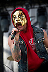 Danny of Hollywood Undead performs during the 2013 Rock On The Range festival at Columbus Crew Stadium in Columbus, Ohio.