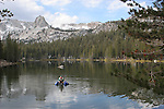 Fisherman at Mammoth Lakes