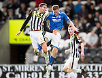 St Mirren v St Johnstone...19.10.13      SPFL<br /> Lee Mair and Steven MacLean<br /> Picture by Graeme Hart.<br /> Copyright Perthshire Picture Agency<br /> Tel: 01738 623350  Mobile: 07990 594431