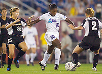 Margaret Tietjen of the Power and Charmaine Hooper of the Beat. The Atlanta Beat and the NY Power played to a 1-1 tie on 7/26/03 at Mitchel Athletic Complex, Uniondale, NY.