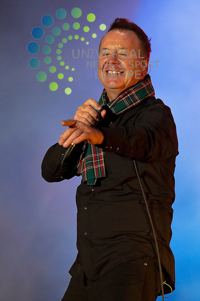 Classic Scottish rock band, Simple Minds, headline at this years Concert in the Gardens, part of Edinburgh's Hogmanay 2013 celebrations...Malcolm McCurrach (Universal News and Sport) - 31/12/2012