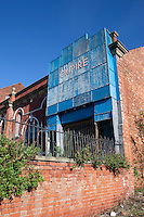 The derelict Empire Theatre in Shirebrook Derbyshire built in 1910.