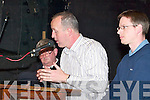 TOP TABLE: Cormac OMahony speaking at the Castleisland By-pass public meeting in Castleisland on Wednesday night..