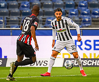 v.l. Almamy Toure (Eintracht Frankfurt), Vincenzo Grifo (SC Freiburg) - 26.05.2020 Fussball 1.Bundesliga Spieltag 28, Eintracht Frankfurt  - SC Freiburg emspor, <br /> <br /> Foto: Jan Huebner/Pool/ Via Marc Schueler/Sportpics.de<br /> (DFL/DFB REGULATIONS PROHIBIT ANY USE OF PHOTOGRAPHS as IMAGE SEQUENCES and/or QUASI-VIDEO), Editorial use only. National and International News Agencies OUT