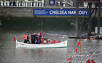 BNPS.co.uk (01202 558833)<br /> Pic: MattCain/BNPS<br /> <br /> The 'little ship' takes part in the Diamond Jubilee Pageant in 2012. <br /> <br /> A lifeboat which was present at Dunkirk is set to sail there on the 80th anniversary of the mass evacuation after being painstakingly restored.<br /> <br /> The Lady of Mann was lifeboat number eight on board the passenger ship RMS Lady of Mann, which brought 4,262 men back to England in May 1940.<br /> <br /> It was also on the Isle of Man Steam Packet Company vessel when it carried six landing craft, 55 officers and 435 troops to Juno Beach on D-Day in June 1944.<br /> <br /> After the ship was broken up in 1971, the 27ft lifeboat was sold off and converted into a fishing boat which operated out of Maldon, Essex. It had been languishing in a rotting, dilapidated state in an Essex boatyard when IT manager Matt Cain paid £3,000 for it in 2009 after spotting it for sale online.<br /> <br /> The boat sank at its mooring in Windsor, Berks, during the floods of February 2014. Since then, Mr Cain, whose grandfather was evacuated at Dunkirk, has spent over £30,000 returning it to its former glory.